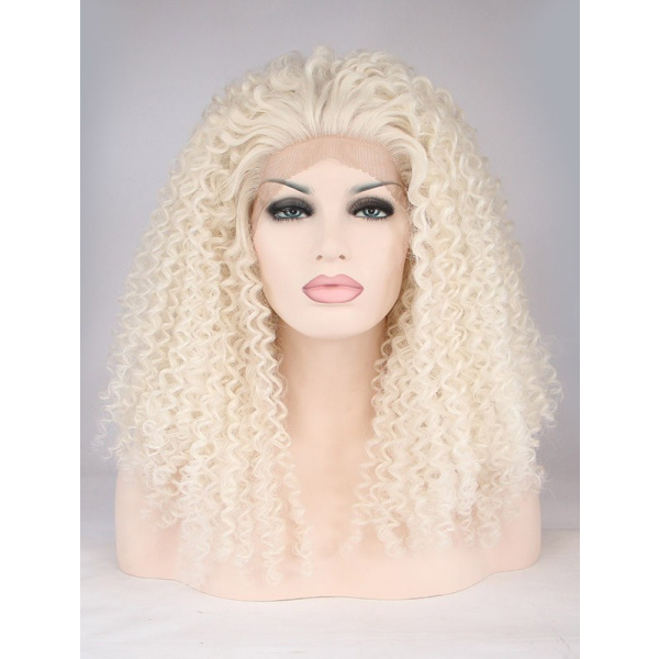 Incredible Synthetic 18 Inches Colorful Long Lace Front Wigs