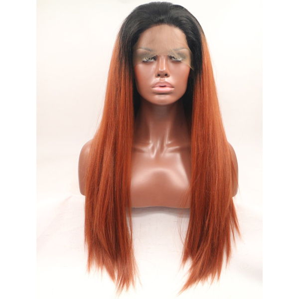 Fashion Synthetic Colorful Real Looking Lace Front Wigs