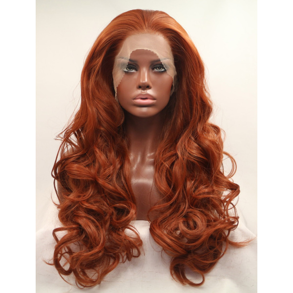 27 Inches Colorful Lace Front Curly Wigs Without Bangs