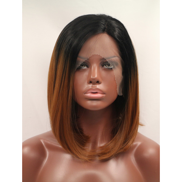 Synthetic 12 Inches Colorful Quality Lace Front Wigs