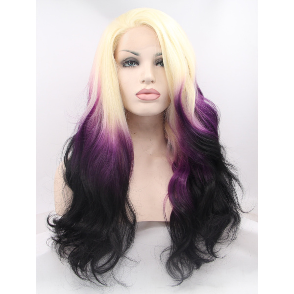 High Quality 26 Inches Colorful Lace Front Curly Wigs