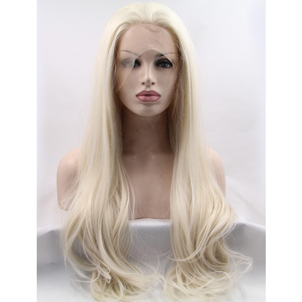 Without Bangs Wavy Lace Front Long Lace Front Wigs