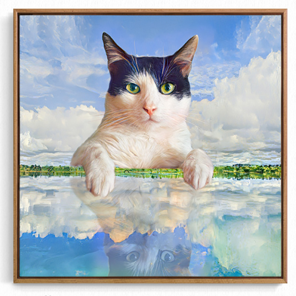 Art Personalized Photo to Oil Paintings Hand Painted on Canvas Pet Portrait Custom Wall Art