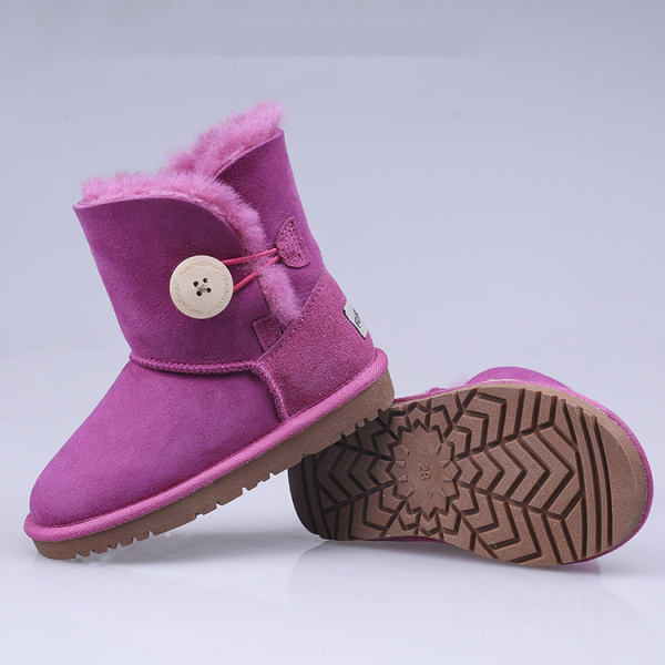 Beautiful 2020 Natural Fur Inside Warm Winter Boots Kids Shoes Genuine Leather Snow Boots Shoes Women Waterproof Boots